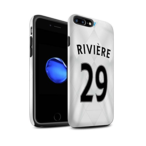 Offiziell Newcastle United FC Hülle / Glanz Harten Stoßfest Case für Apple iPhone 7 Plus / Rivière Muster / NUFC Trikot Away 15/16 Kollektion Rivière