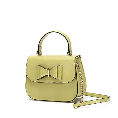 GSHGA Nouveau Style Solide Couleur Casual Bow Sac à Bandoulière Messenger Bag Portable Bâton Sac Vérins Totes Top-Poignée Sacs