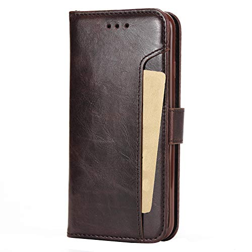 Cubix Wallet Case Leather Flip Cover for Apple iPhone 7 Apple/iPhone 8  4.7 Inch   Brown