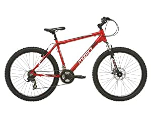 Mizani Men's Summit FD Mountain Bike - Red, 17 Inch