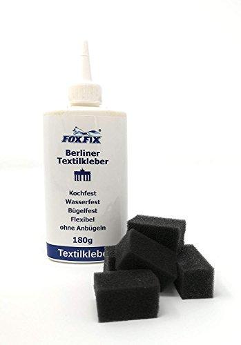comprare on line Adesivo per tessuto n.1, resistente alla stiratura/impermeabile/lavabile per tessuti resistenti, in pelle, neoprene, tende 180ml + Mini Schwämmchen prezzo