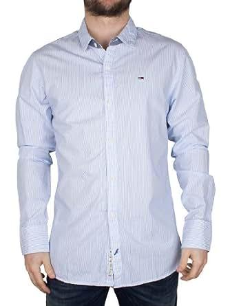 Hilfiger Denim - Blanc Thomas Stripe Shirt - Homme - Taille: XL