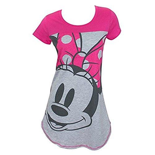 Disney Junior Night Shirt Mickey & Minnie Mouse Print Pink