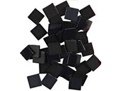 Mosaiksteine Mini-Mosaik 5x5mm oder 10x10mm in verschiedenen Farben 25g Beutel (10 x 10 mm, Schwarz)