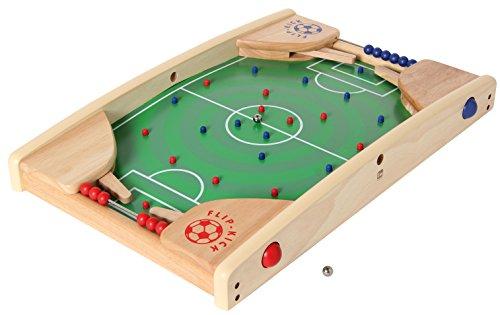 Flip Kick Deluxe, 58 cm, Mischung aus Flipper und Kicker, das perfekte Fußball Geschicklichkeitsspiel für 2 Spieler in allen Altersklassen, kompakt und robust, passt auf jeden Tisch oder Boden und ist leicht zu transportieren (Fußball Kicker)