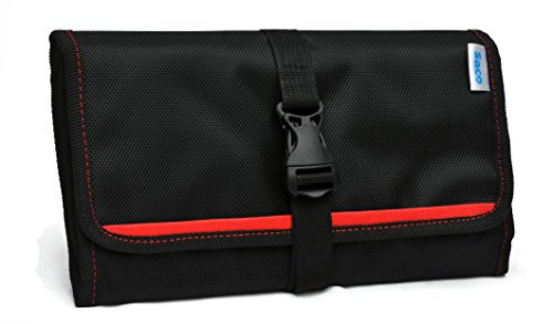 Saco Gadget Organizer Bag For All Gadgets, Power Bank, Cables, Usb Pen Drives, Mobile Phone Accessories Memory Cards, Simcards, DSLR Digital Camera Accessories Organiser / Universal Travel Bag Go Bag /Universal Travel Kit Organizer For Small Electronics And Accessories & Other Digital Devices  available at amazon for Rs.491