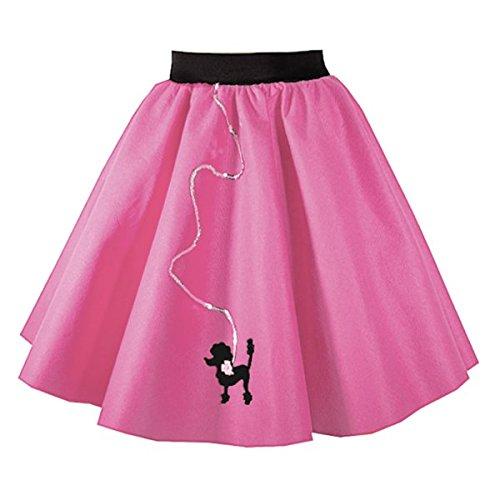 Pudel Rock 53,3cm Länge (50er/60er Jahre, Rock und Roll, Plus Größe, Dance, Fancy Kleid) Gr. Größe L, Rot - Kirschrot (Pudel-rock Kleider)