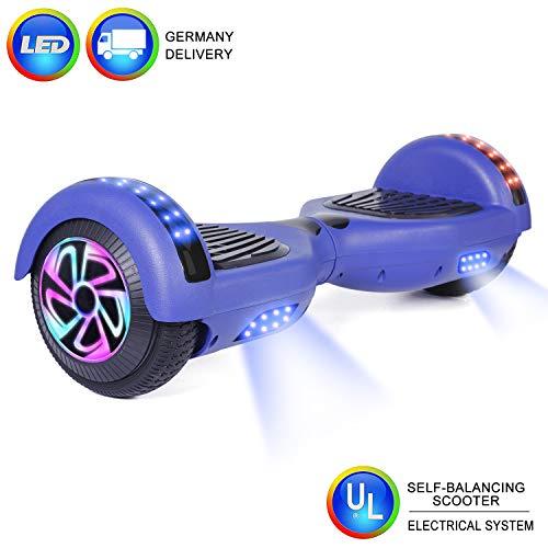 """CBD 2 Räder 6.5""""Hoverboard Pour Enfants et adultes, Scooter électrique à équilibrage automatique Avec sac de Transport gratuit et chargeur européen (Blau)"""