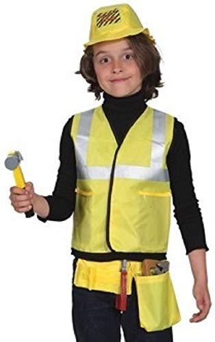 Fancy Me Kinder Jungen Mädchen Bauarbeiter 6-teiliges Kostüm Kit