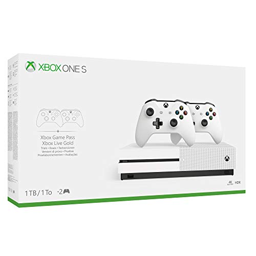 Xbox One S 1TB + 2nd Controller Wireless + 3 Mesi Gamepass [Esclusiva Amazon]