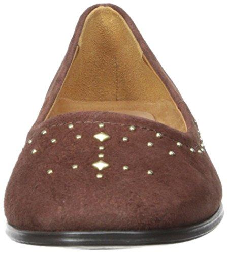 Naturalizer Joana Femmes étroit Daim Chaussure Plate Bridal Brown