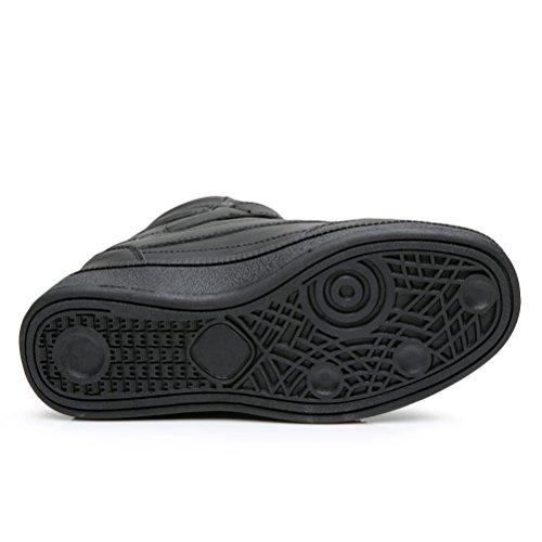 AFFINEST Femmes Dames Cheville Invisible haut-dessus Wedge Chaussures Bottes Baskets Pompes Noir