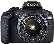Canon EOS 2000D 18-55 IS SEE Fotocamera, Nero