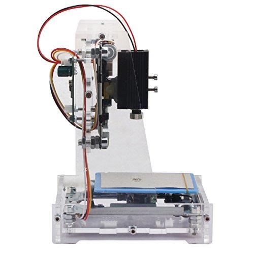 Yosoo 500mW Rotlicht Miniatur DIY USB Graviermaschine Gravur Maschine Betriebssystem OS: win XP win7 win8 win10 CE Zertifikat 180 x 135 x 130 mm Durchsichtsfarbe
