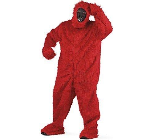 Limit Sport Erwachsene Kostüm Plüsch Gorilla Größe L rot, bunt (67marl) (Bunte Gorilla Kostüm)