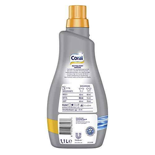 Coral Flüssigwaschmittel Activ flüssig, 2er pack (2x 1,1 L)
