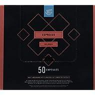 Amazon Brand- Happy Belly Espresso Roast & Ground UTZ Coffee in Nespresso compatible compostable capsules, 50 capsules