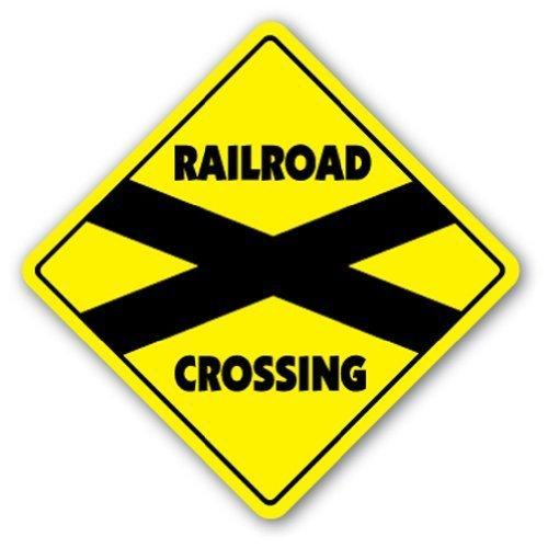 Zitat Aluminium Sign Railroad Crossing Sign Neuheit Zug Auto Track Modell Collector Metall Geschenk Schild, Dekoration - Züge, Modell Autos