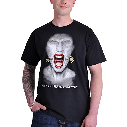 T-shirt American Horror Story Hotel sur le thème de la série télé coton noir - M