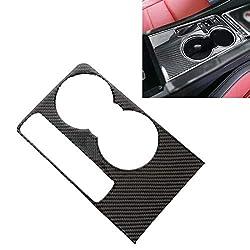 CHENCHUAN Autoteile Zierleisten Eine Art Carbon-Faser-Auto-Wasser-Schalen-dekorativen Aufkleber for Jaguar F-PACE Auto-Innenausbau Zubehör