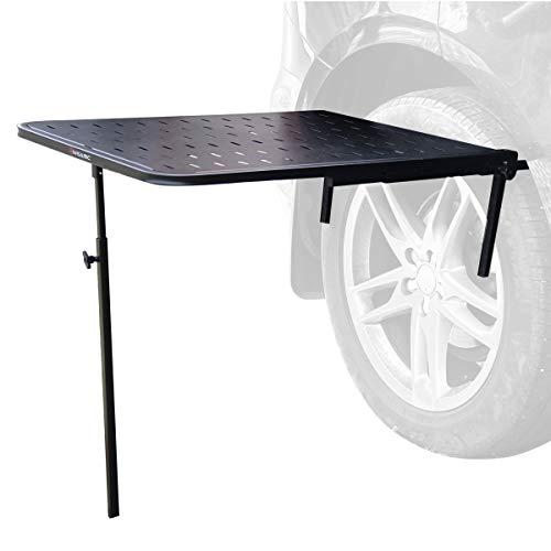 Wisamic Faltbar Campingtisch Hängetisch Autoreifen Halterung Auto Klapptisch Picknicktisch - für Autoreise, Camping, Reisen,Outdoor