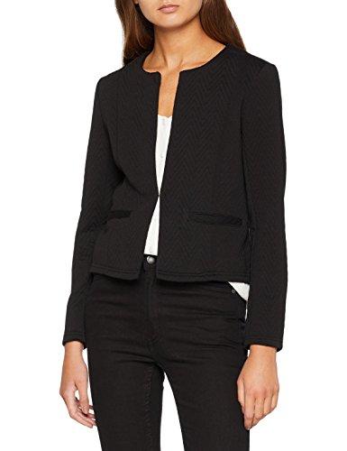 VERO MODA Damen Anzugjacke VMMIA Structure Short Blazer NOOS, Schwarz Black, 38 (Herstellergröße: M)