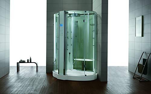 Dampfdusche/Wellnessdusche WS122T 1500 x 1500 x 2280mm Rückwandfarbe: weiß