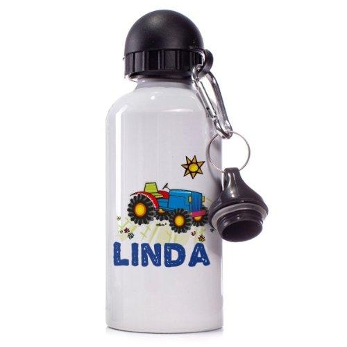 Striefchen® Trinkflasche Motiv: Traktor Name: Linda