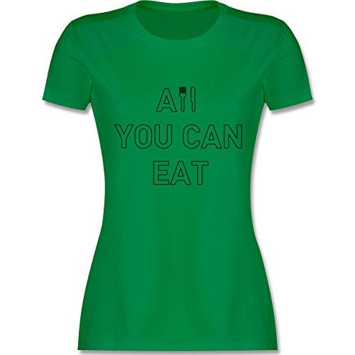 Küche - All you can eat - tailliertes Premium T-Shirt mit  Rundhalsausschnitt für Damen