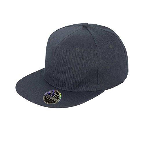 Result Unisex Core Bronx Original Flat Peak Snapback Solid Colour Cap (One  Size) ( 01829bb9278