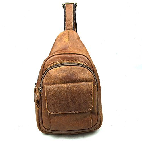 DJB/ Brust-Header Schicht aus Leder Mann Tasche Trend Herren casual Leder Messenger Tasche Brown