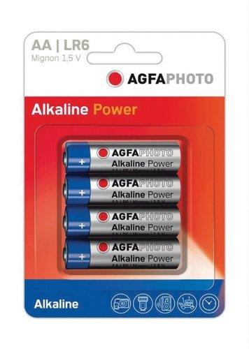 Agfa Photo et pile alcaline AA sous blister de 4.