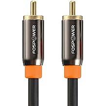 FosPower (0.9m) cavo RCA [24K Oro placcato Connettori] premio RCA Male a RCA Male S/PDIF Digitale Audio Coax Cable per Home Theater, HDTV, Subwoofer, Hi-Fi sistemi
