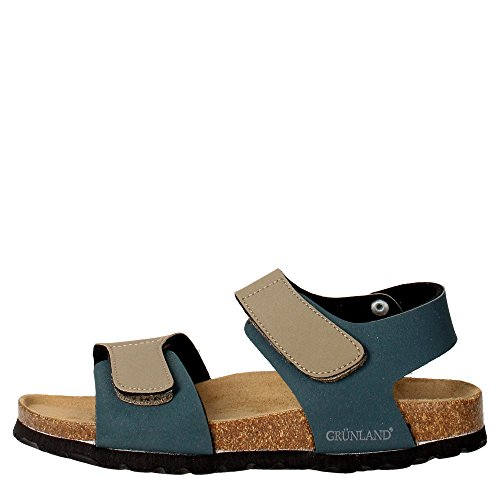 Grunland SB0014-40 Sandalo Bambino Pelle Sintetico BEIGE/BLU BEIGE/BLU 27