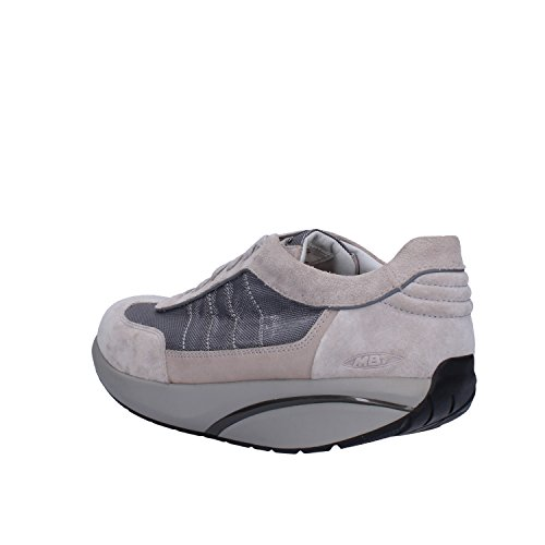 MBT Sneakers Homme EU Suède Textile Beige Gris
