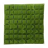 Bolsa de plantación - Delaman 72 36 bolsillos Colgante de pared Fieltro Jardinera Planta Bolsas de cultivo Jardín Interior Exterior (Color : Verde, tamaño : 72 Pockets)