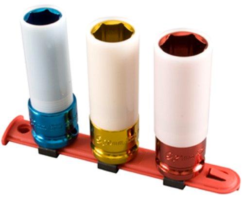 Sunex 28421/2Zoll Antrieb Metrisches Extra Dünn Tief Rad Displayschutzfolie Impact Socket Set, 3-teilig (Thin Metric Wall)