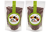 LET'S GO NUTS Raw Flax Seeds, 250 Grams (Pack of 2)