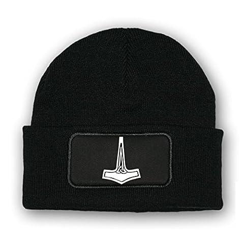 *bonnet/beenie -mütze pendentif hammer_wikinger rune mjoelnir odin donner gott hammer germanen uniform hoheitsabzeichen d'fourrure logo mILITAIRES#7023