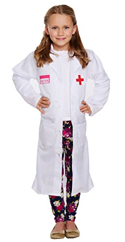 Doctor Girl 's Fancy Kleid Kinder Kostüm Welt Buch Tag Alter 4–14Jahre, Weiß (Kostüme Kleider Fancy Childrens)