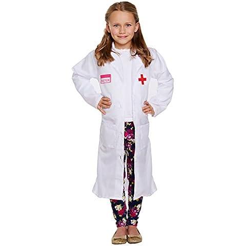 Disfraz niño médico niña pequeño 4–6años