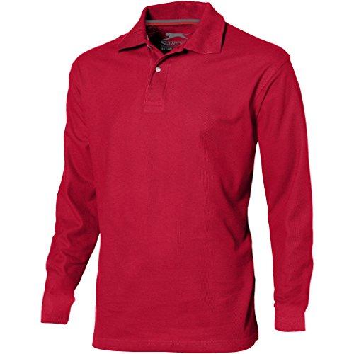 Slazenger point - polo a manica lunga - uomo (xxl) (rosso)