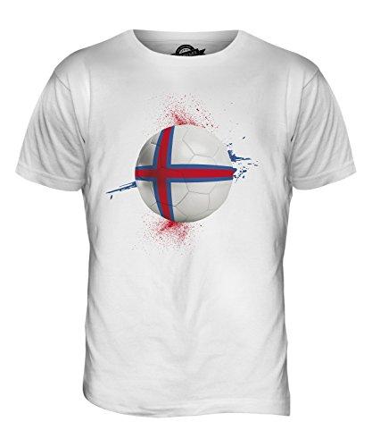 CandyMix Färöer Fußball Herren T Shirt Weiß