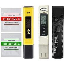 Profesional TDS EC Probador Medidor de pH Digital Temp PPM Verificación Calidad del agua Pureza para