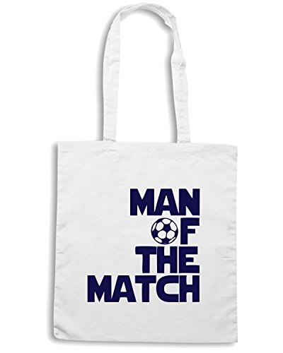T-Shirtshock - Borsa Shopping OLDENG00169 man of the match soccer Bianco
