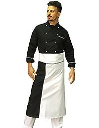 tessile astorino Completo-Divisa Cuoco Chef Black And White  (Giacca+Pantalone+ 582f76387795