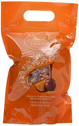 Lindt Lindor Beutel Orange Milch, gefüllt mit einzeln verpackten Kugeln mit einer zartschmelzenden Füllung, 1er Pack (1 x 1kg) -