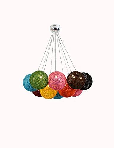 Sexy Ball (SEXY- Ball G4 Rattan Hanf Leuchter Modernes Minimalistisches Restaurant Wohnzimmer Schlafzimmer Leuchter -Kronleuchter für Innenbeleuchtung)