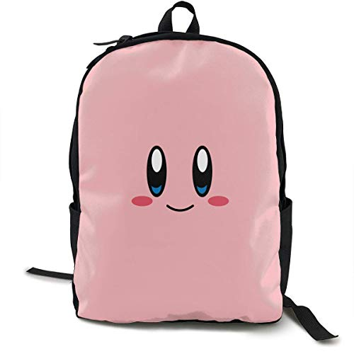HOJJP Schultasche Kirby Face Unisex Adults Kids Schoolbag Lightweight Teen Girls Boys Bookbags Book Bag Backpack ypack for Office Traval (Rucksack Kirby)