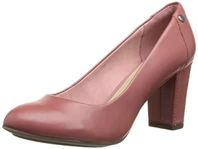 Hush Puppies Women's Sisany Pump Court Shoes Pink Rose (Rose Leather) 3.5 (36 EU)